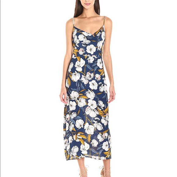 9820993b0b07 MINKPINK Dresses | Pacifico Floral Cowl Neck Slip Dress | Poshmark